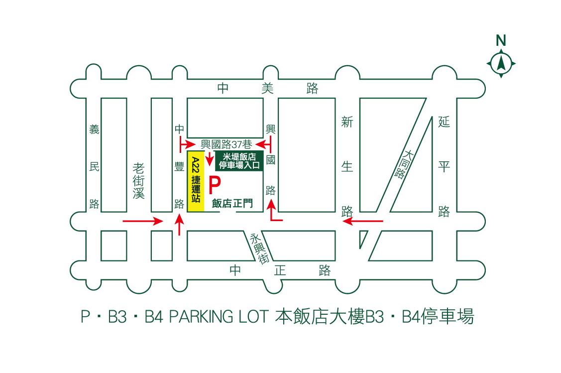 飯店名片-背面地圖